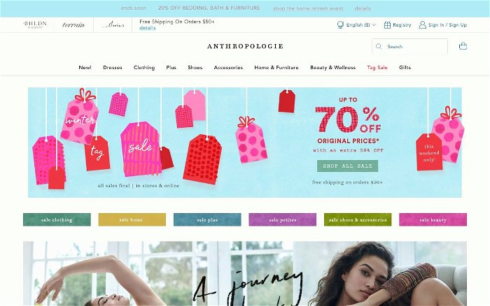 Anthropologie - Ranks and Reviews